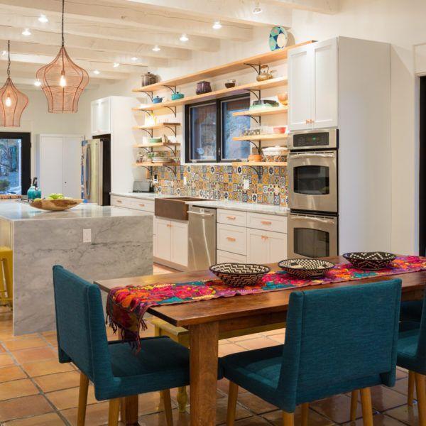 Speisesaal mit Küche Französisch und Französisch Interiors verbunden ...