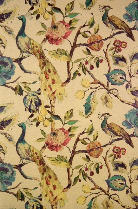 Mews Linen 19909 100 James Dunlop Textiles Upholstery Drapery Wallpaper Fabrics Fabric Art Peacock