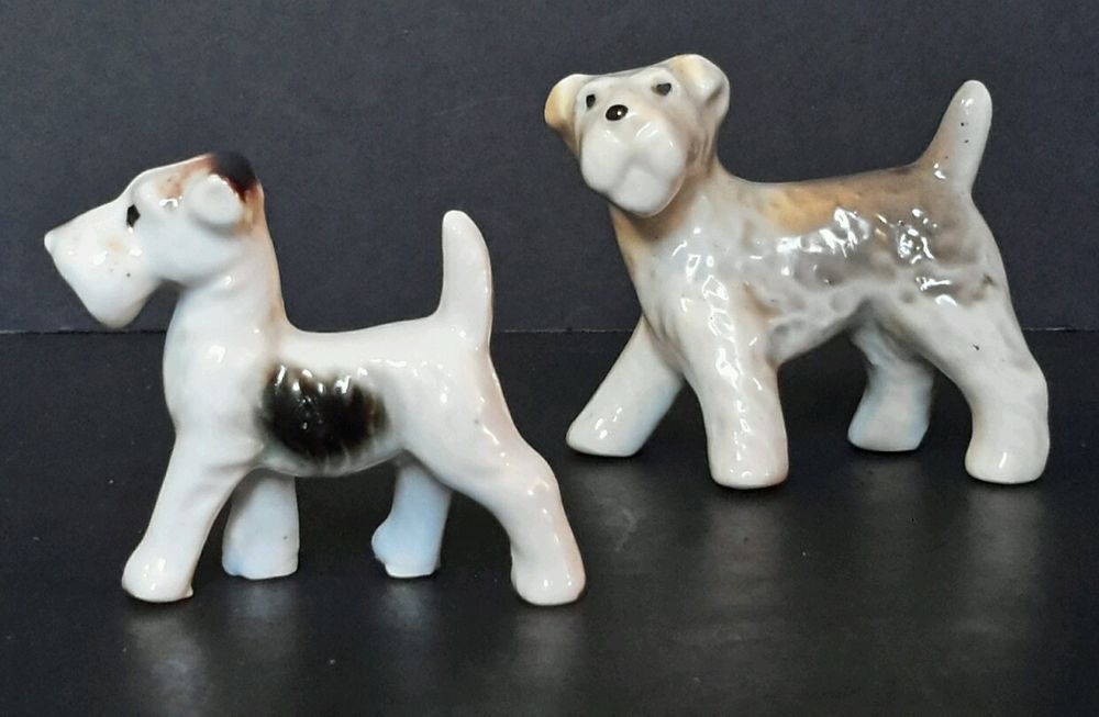 Antique~ Vintage Occupy Japan Terrior Schnauzer Dog Collectible Animal Figurines