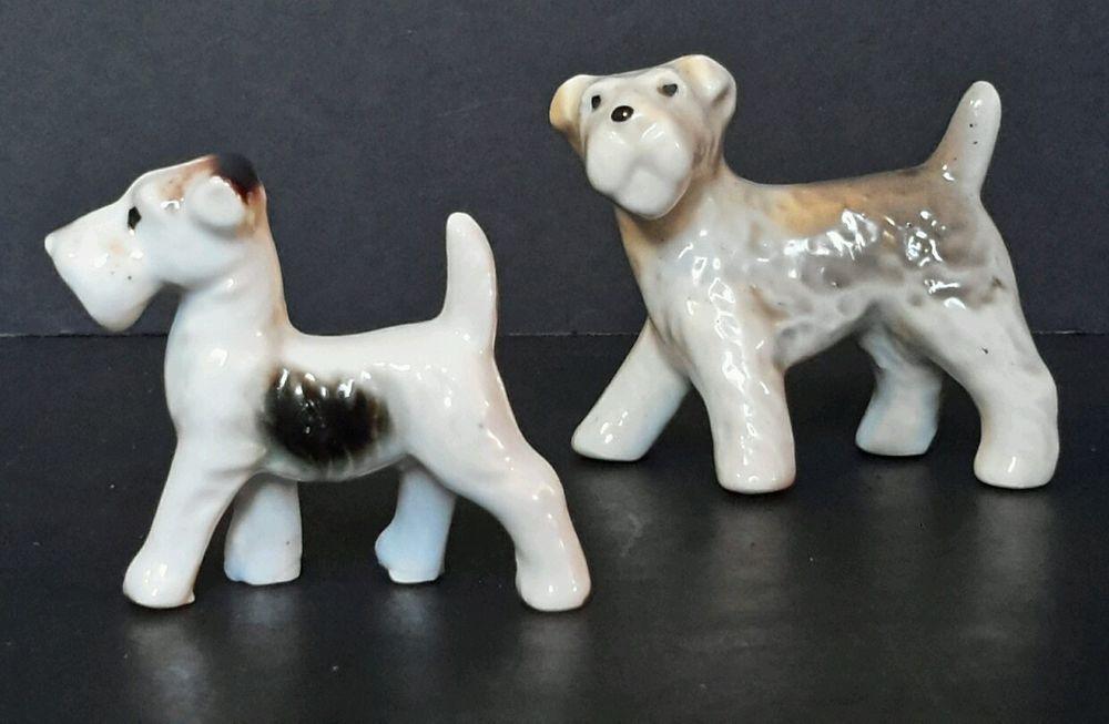 Antique~ Vintage Occupy Japan Terrior Schnauzer Dog Collectible Animal Figurines
