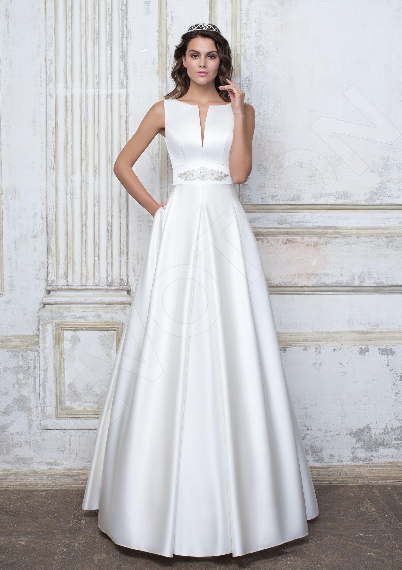 Olivia Classic Satin Wedding Dress White Devotiondresses Com