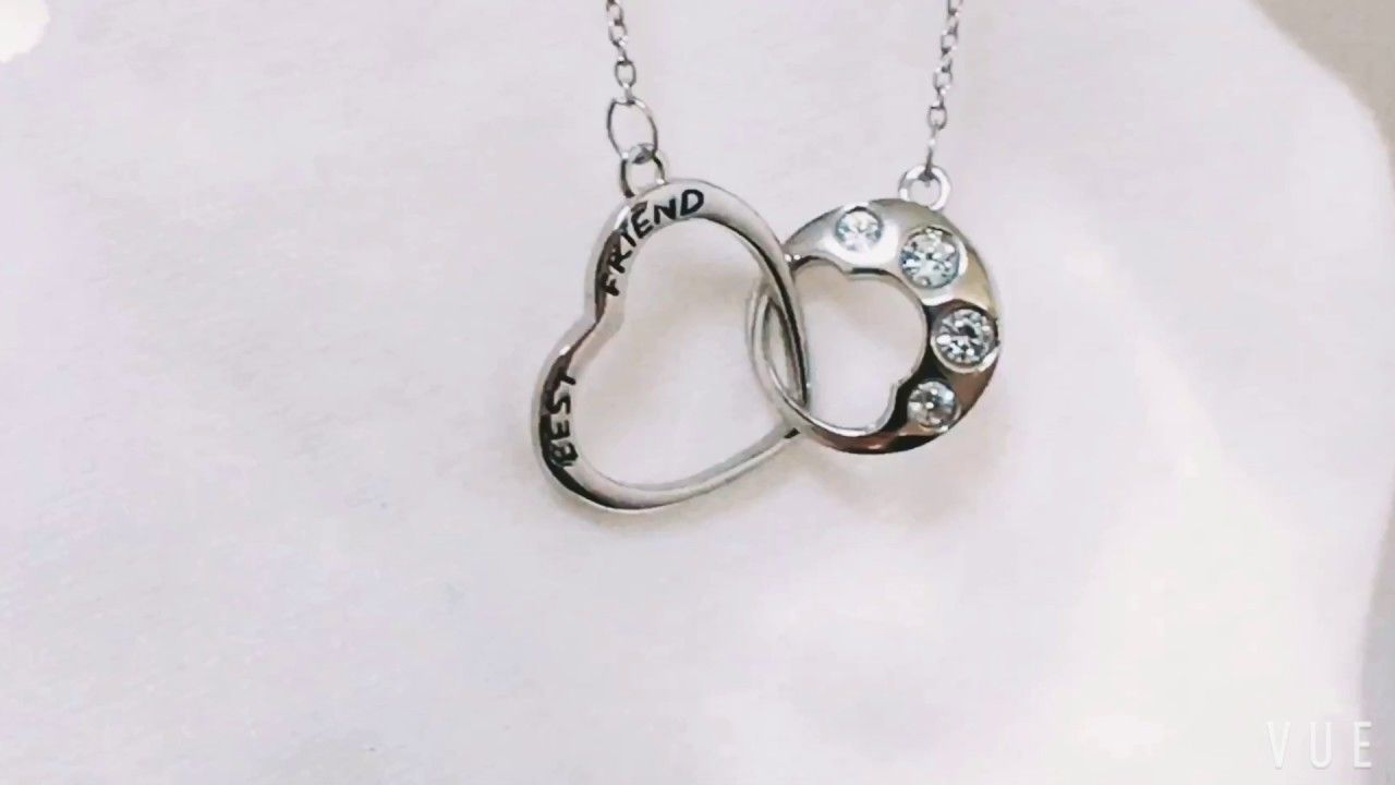 Lucky Dog Paw Print Necklace Love Heart Zircon Pendant sterling
