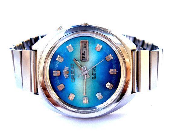 290190b518ee Vintage Reloj ORIENT Automatico 21 Jewels Doble por shopvintage1 ...