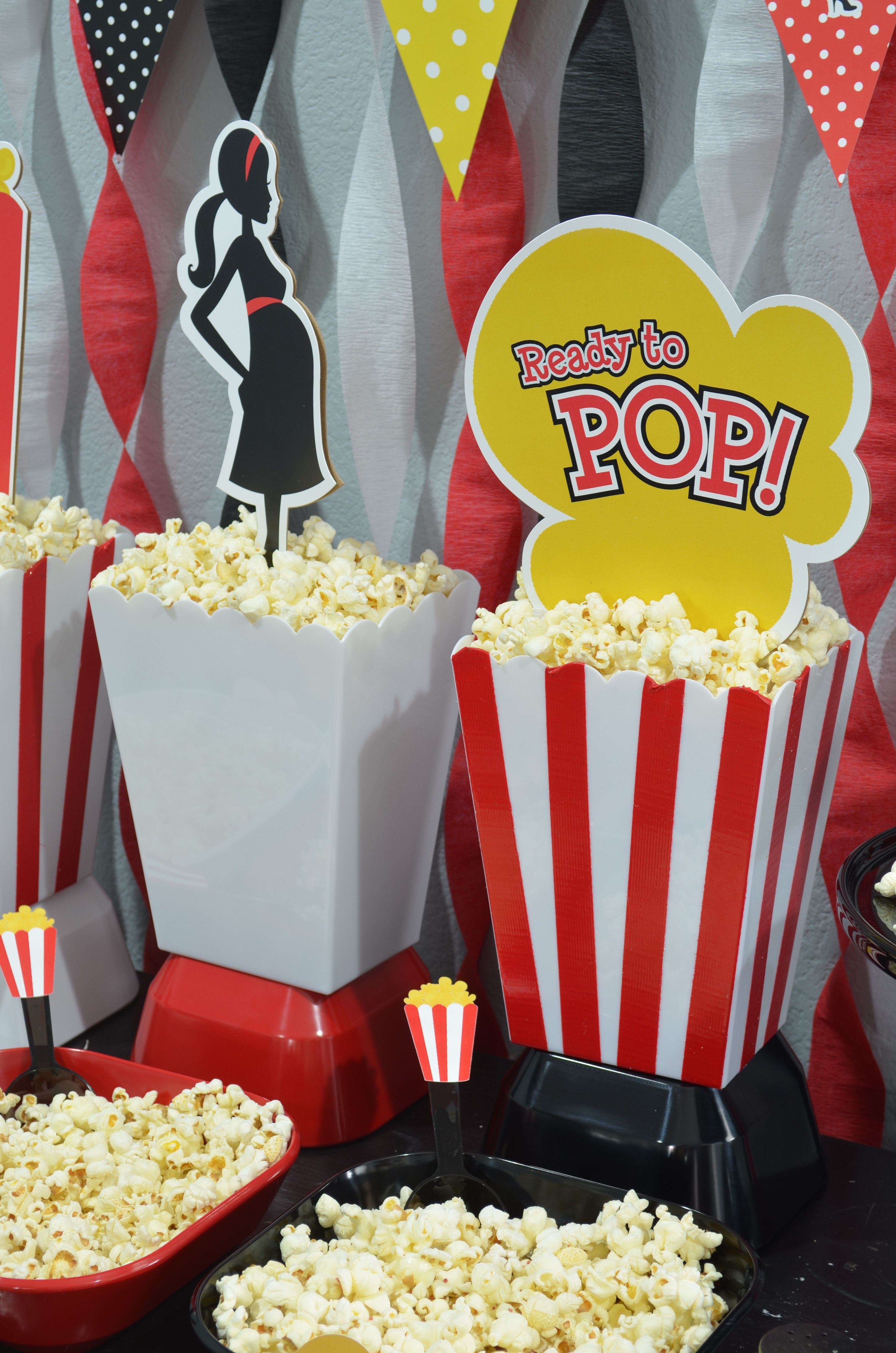 Ready To Pop Baby Shower | Baby | Pinterest | Popcorn containers ...