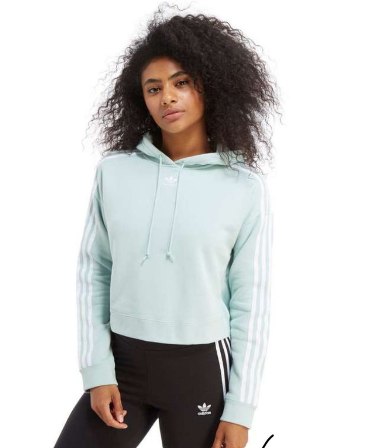 977d52e86e092 adidas Originals 3-Stripes Crop Overhead Hoodie