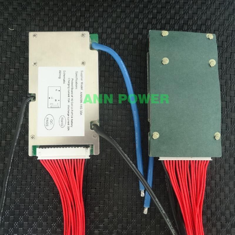 48v 30a Lifepo4 Battery Bms For 16s 3 2v Lifepo4 Cell 51 2v Bms