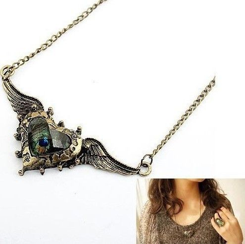 Wing & Heart Necklace