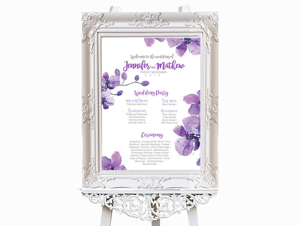 Printable Welcome Wedding Party Poster Template  Editable