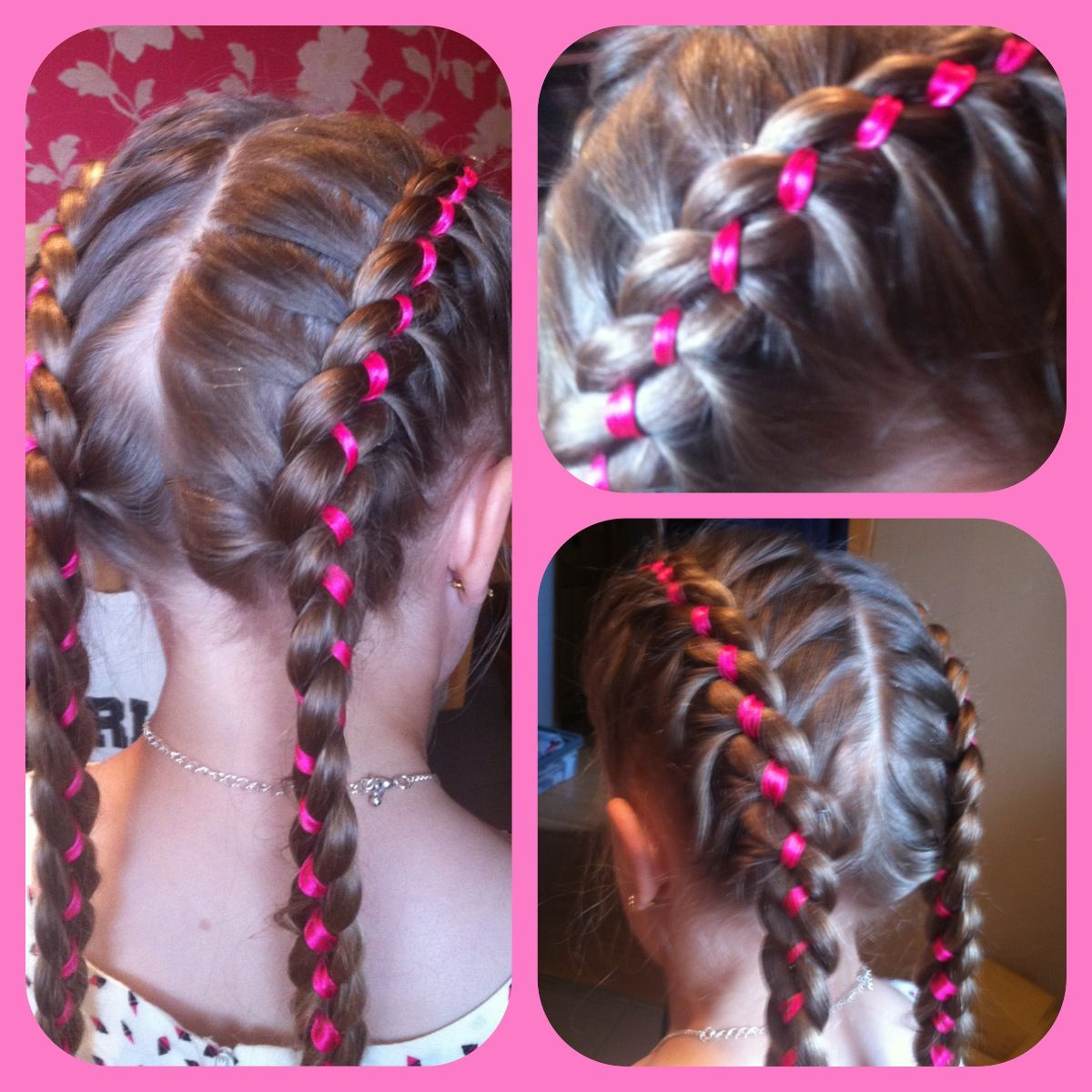Braids With Ribbons Short Hair Styles Easy Short Hair Updo Kids Braided Hairstyles