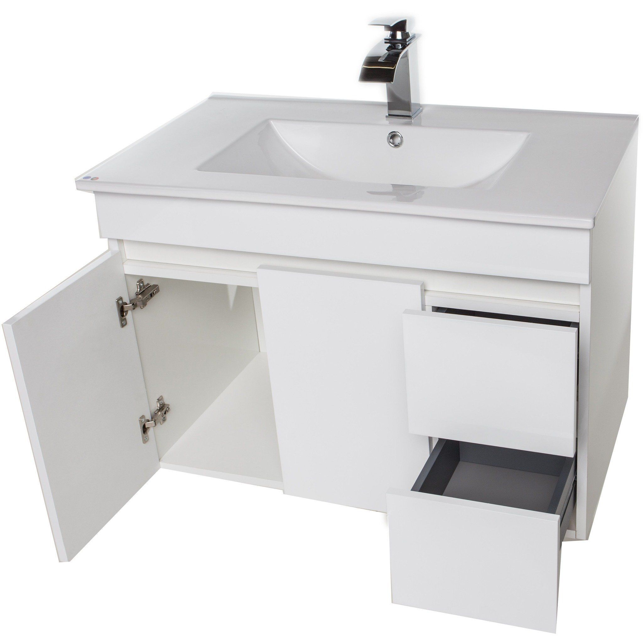Wall Bathroom Vanity Cabinet Set Bath