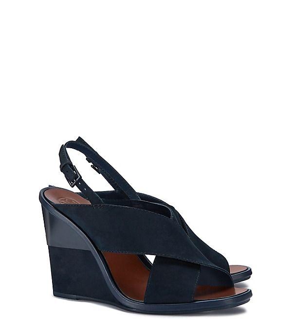 15b394025f2b68 Explorez Chaussures À Plateformes et plus encore ! Tory Burch Gabrielle  Nubuck Wedge Sandal