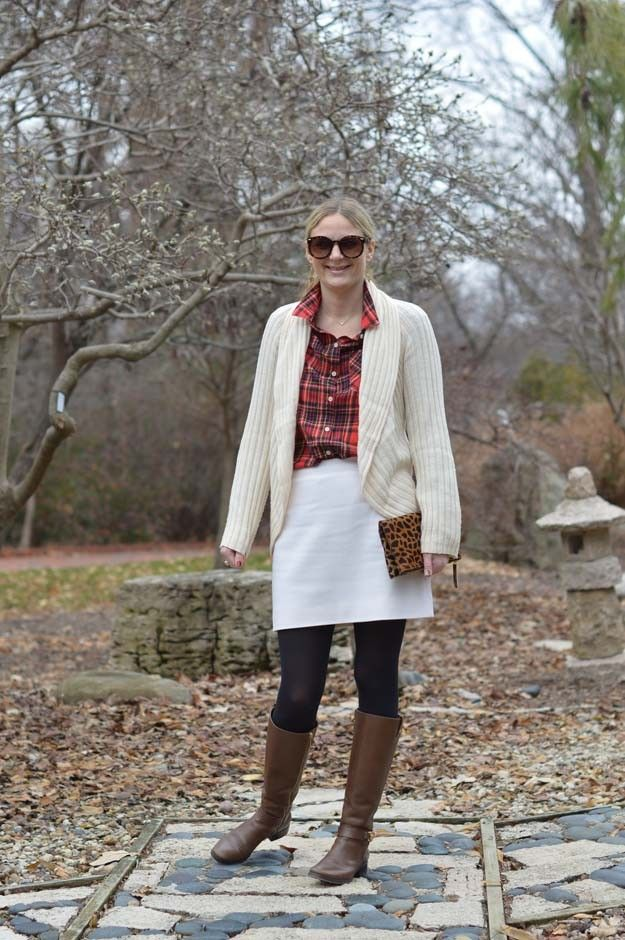Cream and A Red Plaid   Style in a Small Town