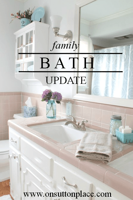 How To Update A Bathroom On Sutton Place Pink Bathroom Tiles Bathrooms Remodel Vintage Bathrooms