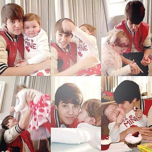 When Mr & Mrs Bieber first met. ♥