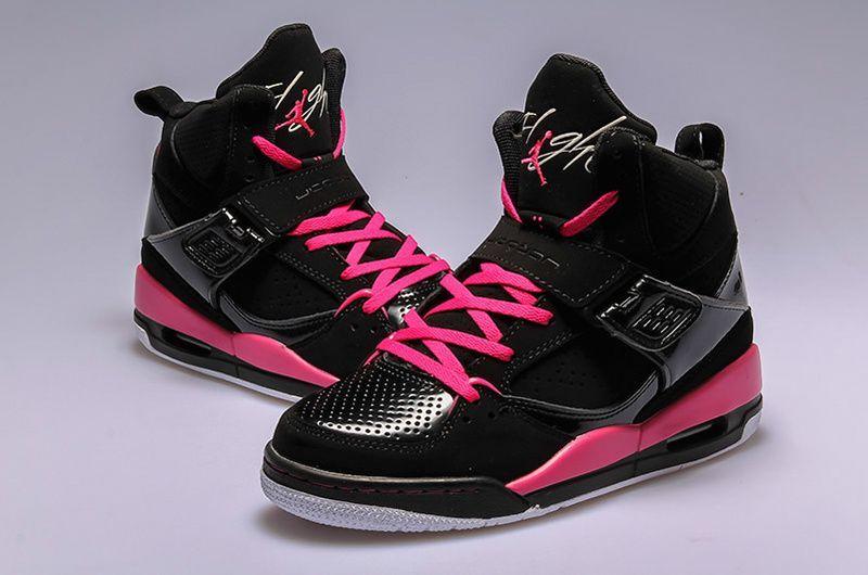 quality design 245cc c28a1 Womens Jordan Flight 45 High Black/Vivid Pink-White [Womens ...