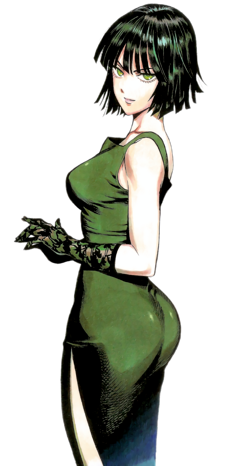 """A transparent render of Fubuki from """"One Punch Man"""