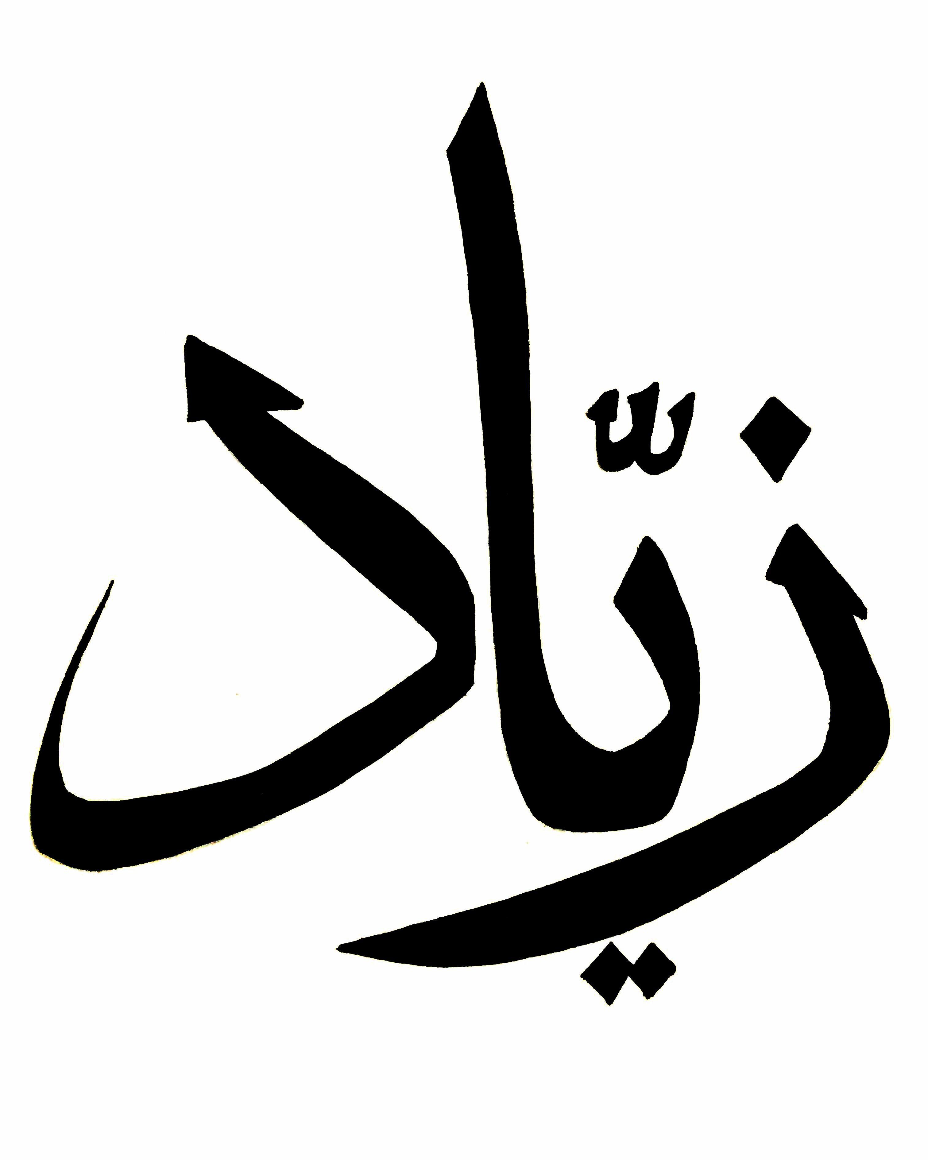 زياد أسماء Letters Symbols Calligraphy