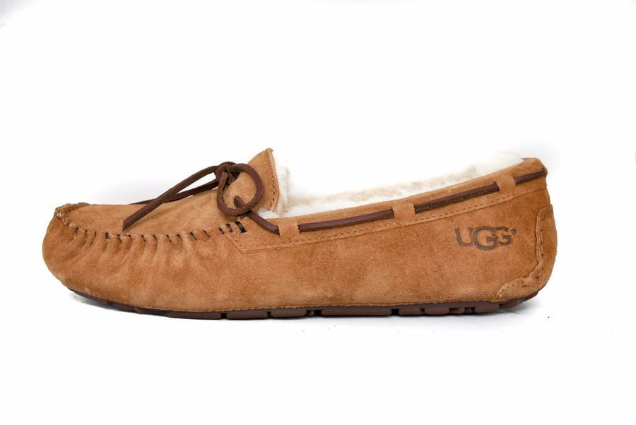 9aafc1b982b UGG Women Dakota 5612 Moccasin Slipper in CHESTNUT Sz 5-12 NEW w ...
