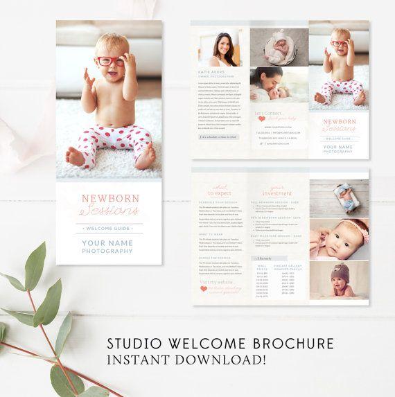 Newborn Trifold Brochure Flyer, Photography Guide, Newborn Marketing ...