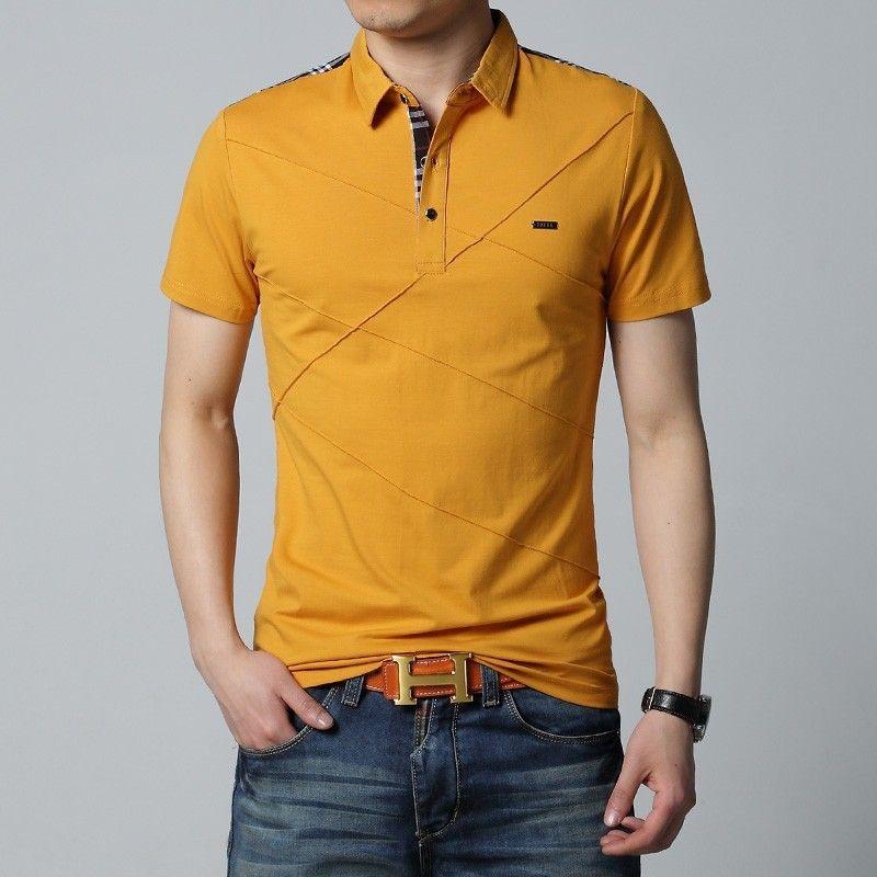 d0e7f475d1 Camisa Pólo Amarela Casual