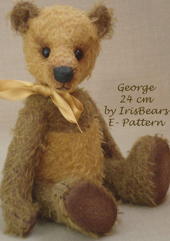 Artist bear PATTERN George by IrisBears on Etsy, $10.00