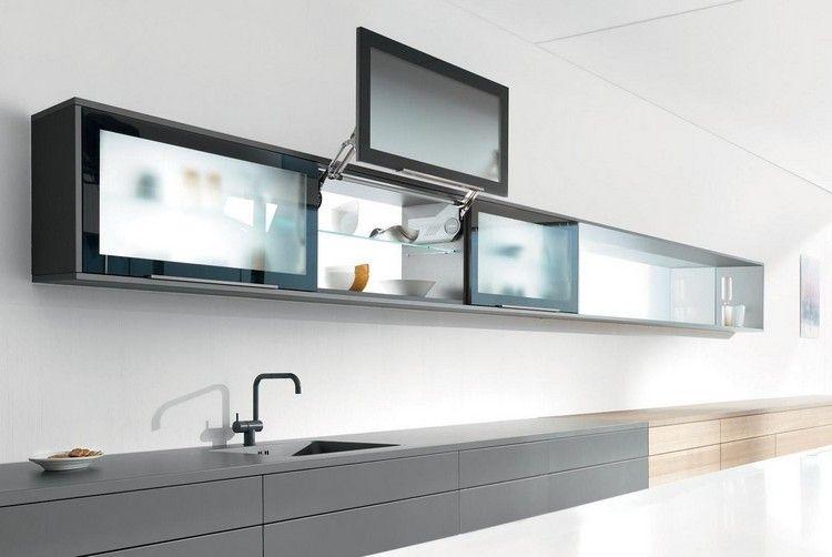 türsysteme küchenoberschränke schwebetüren öffnungsmechanismus glas