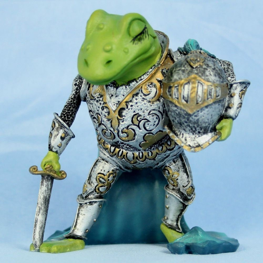 Camelot Frogs Knight of the Lily Pad Figurine 1996 Hamilton Artist ...