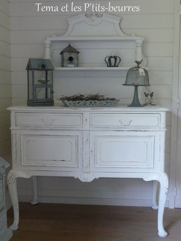 Meuble blanc french country style pinterest shabby buffet and modern country style - Meuble style shabby ...