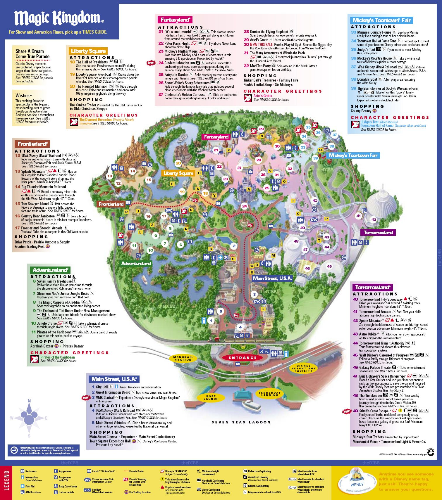 Sweet image for magic kingdom printable map