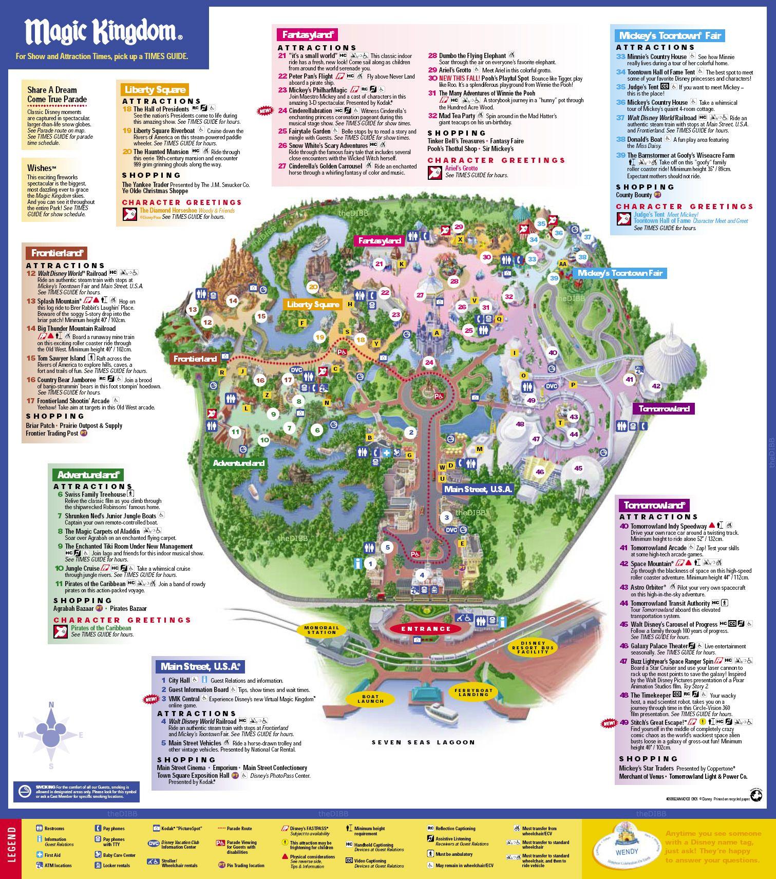 disneys magic kingdom map disney039s magic kingdom orlando fl