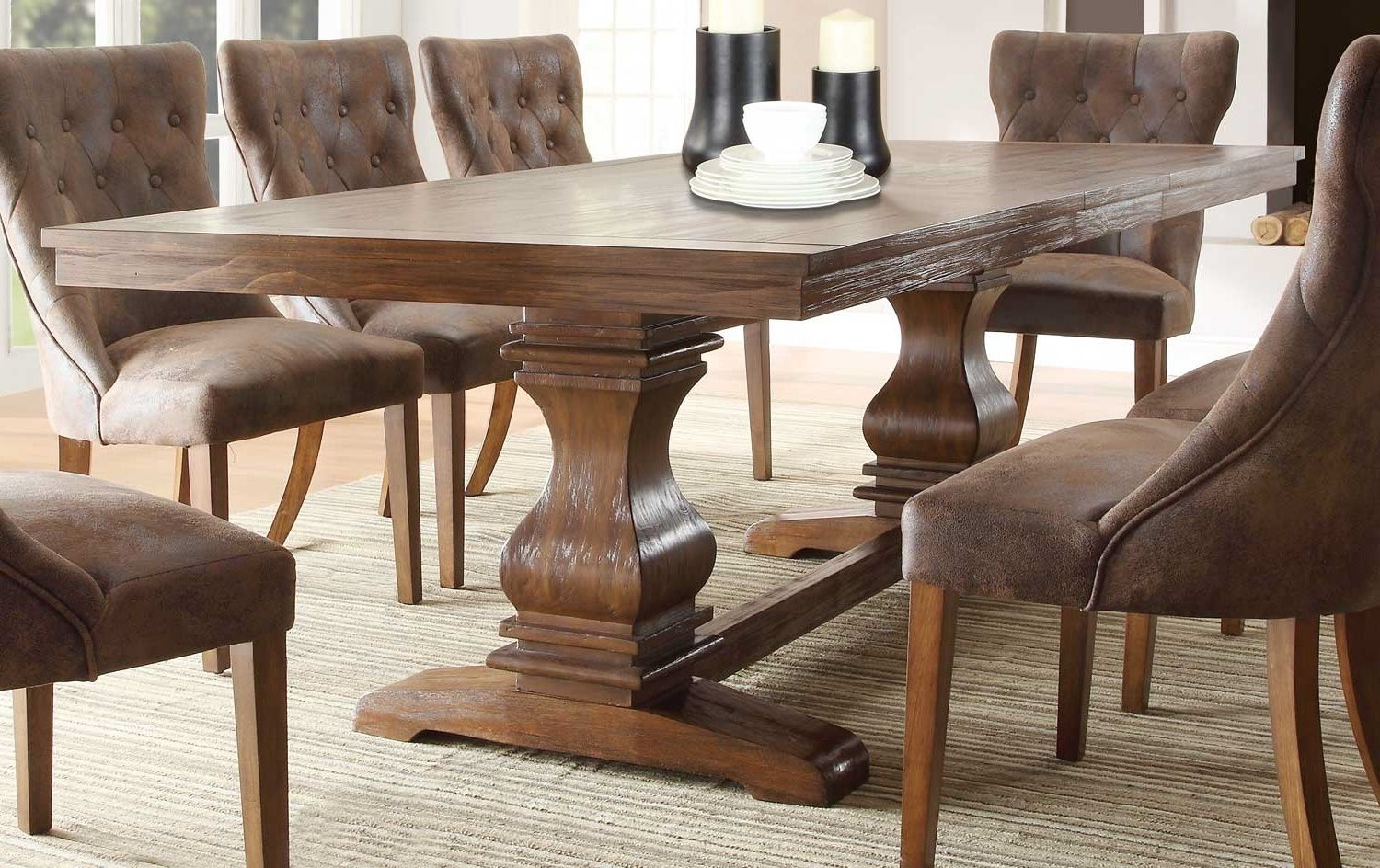 Rustic Leather Dining Room Chairs  Httpenricbataller Extraordinary Leather Dining Room Sets Decorating Design