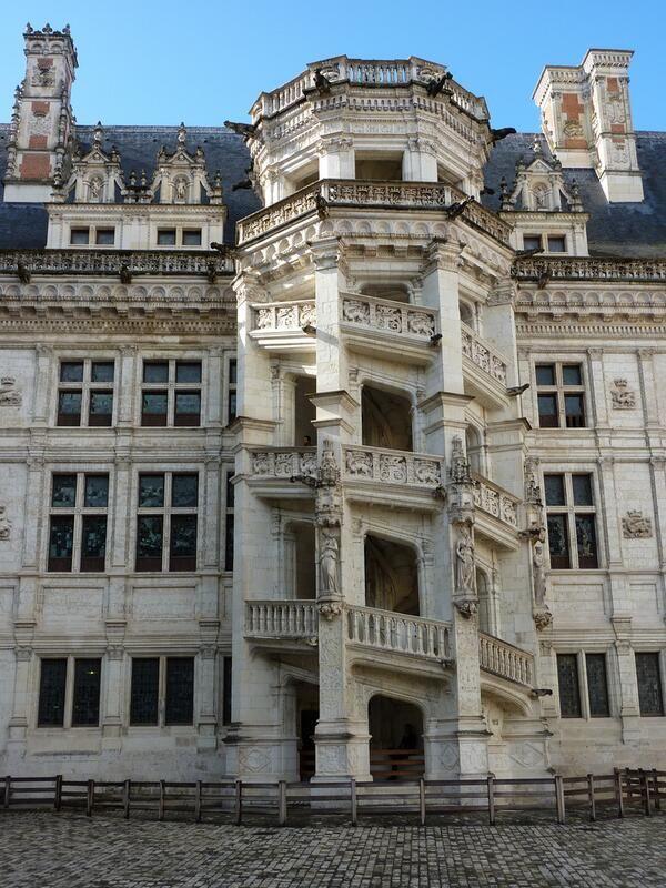 Escalier du château de Blois (41)    http://www.pinterest.com/adisavoiaditrev/boards/