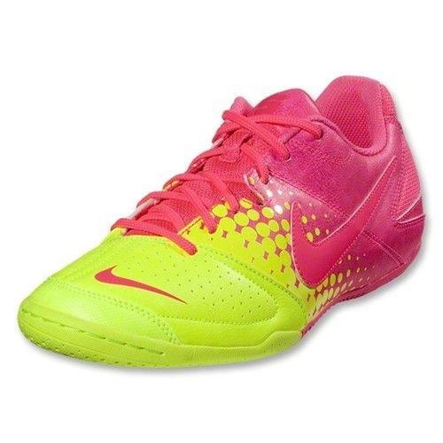 b218c246 Nike Jr Nike5 Elastico Indoor Soccer Shoe Volt Pink Flash Youth ...