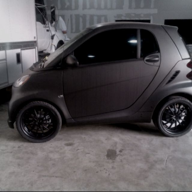 Murdered out Smart Car. Love it!