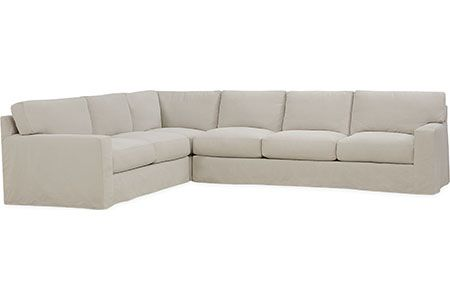 One Arm Sofa Slipcover Sectional With 2 Recliners And Sleeper Lee Industries C7922 Series Cornering Chair