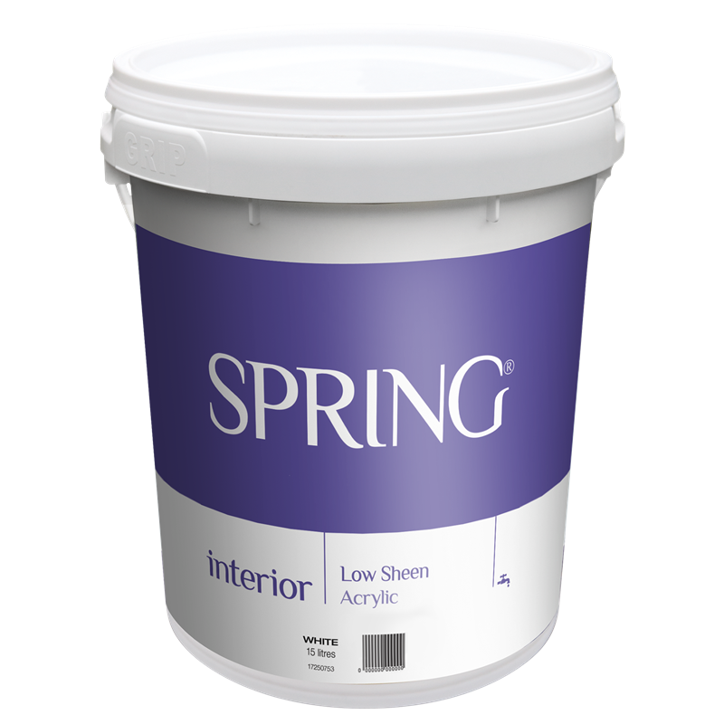 Spring 15L Low Sheen White Interior Paint | Interior paint ...