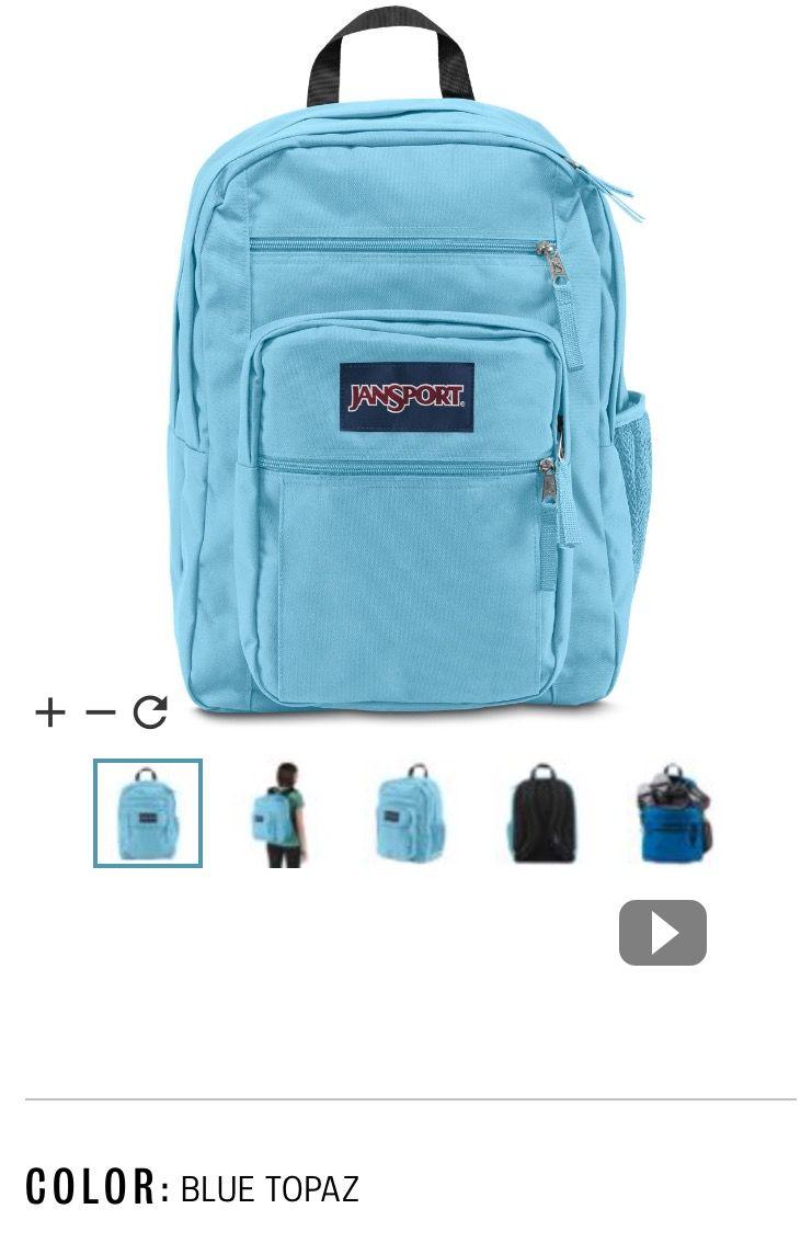 Big student jansport backpack in blue topaz   School   Pinterest ...