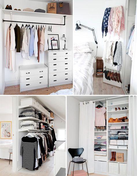 Armarios abiertos para espacios peque os armario abierto for Closets abiertos pequenos