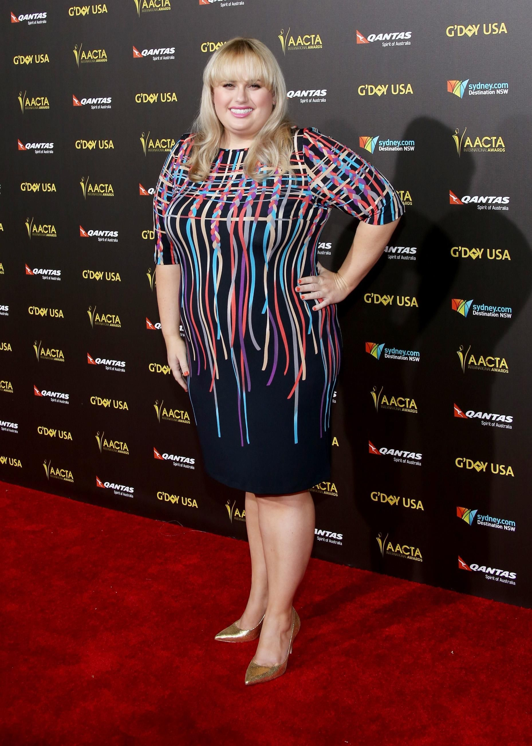 I'm obsessed with Rebel Wilson's dress.