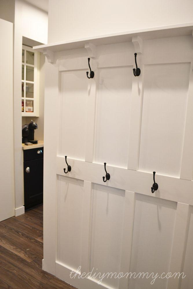 Build A Board Amp Batten Diy Hook Wall Entryway Closet