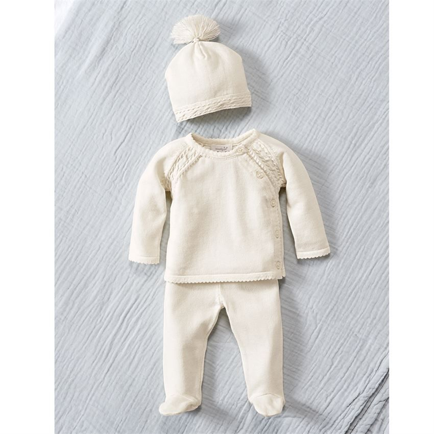 34ad3ac20 Mud Pie Ivory Cable Knit Take Home Set | Hospital Outfits for Sweet ...