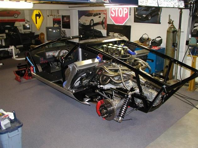 Hand Made Countach Chassis And Drive Line Wild Builds