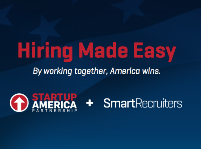 SmartRecruiters partners with Startup America. If hiring is made easy, young companies will create more jobs, and grow faster