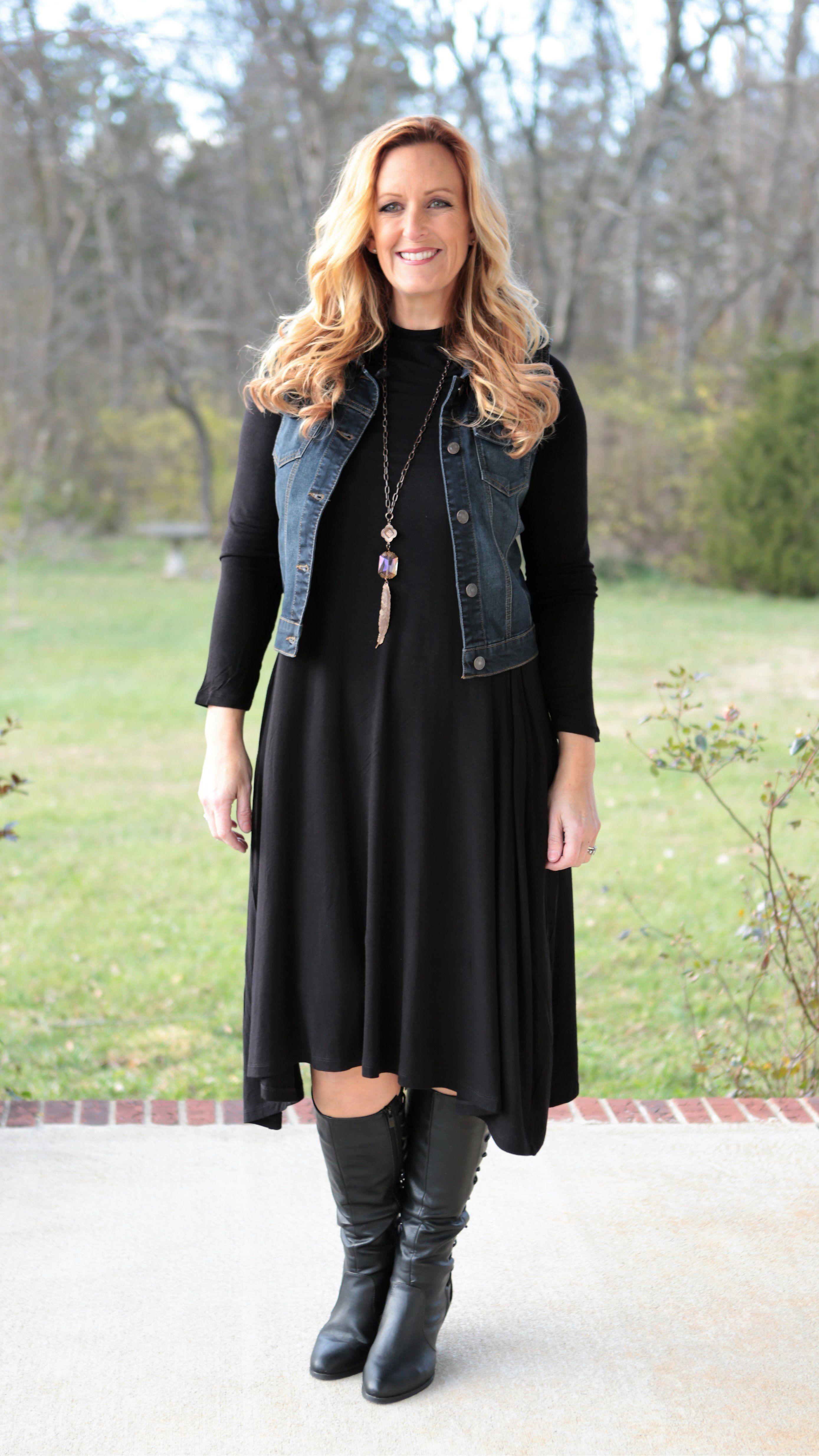 Midi Black Dress Black Midi Dress Black Dress Winter Black Dresses Casual [ 4936 x 2777 Pixel ]