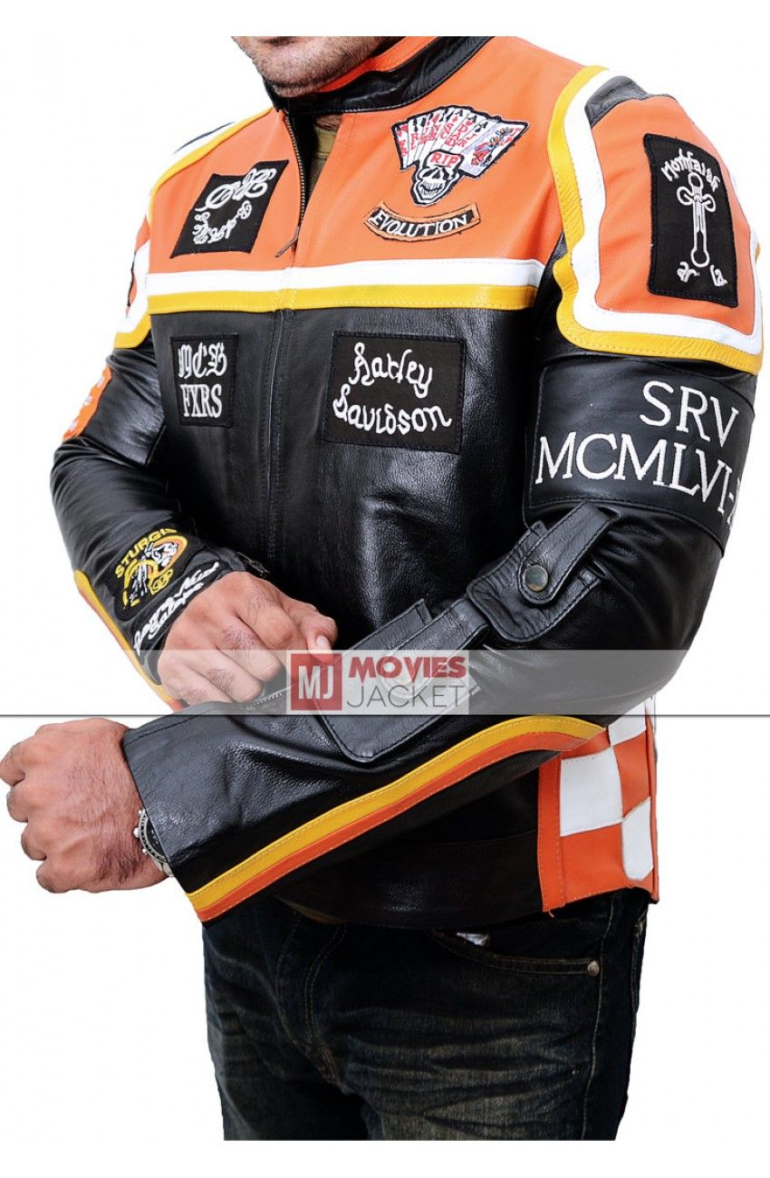 Mickey Rourke Harley Davidson and The Marlboro Man Jacket