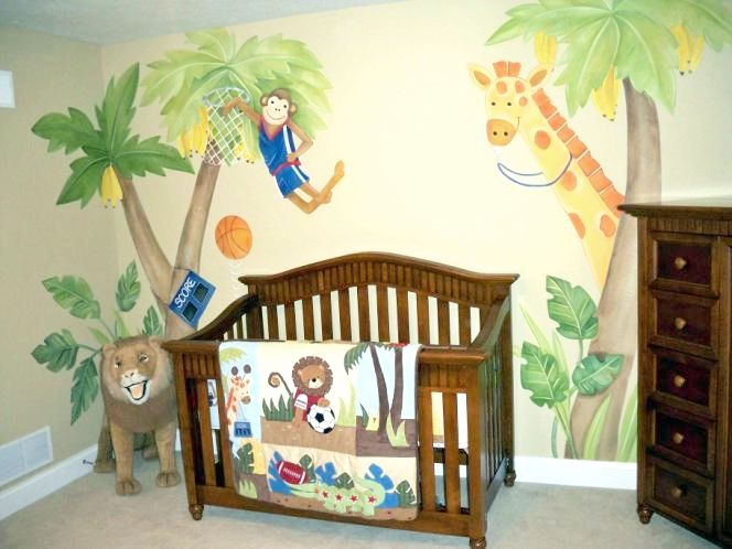 bedding jungle animal baby room theme It would be good for boy cuz