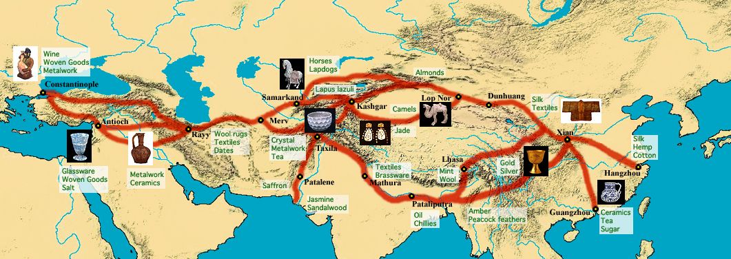 1Silk Road is a trade road which connects each part of Asia – Road Route Map