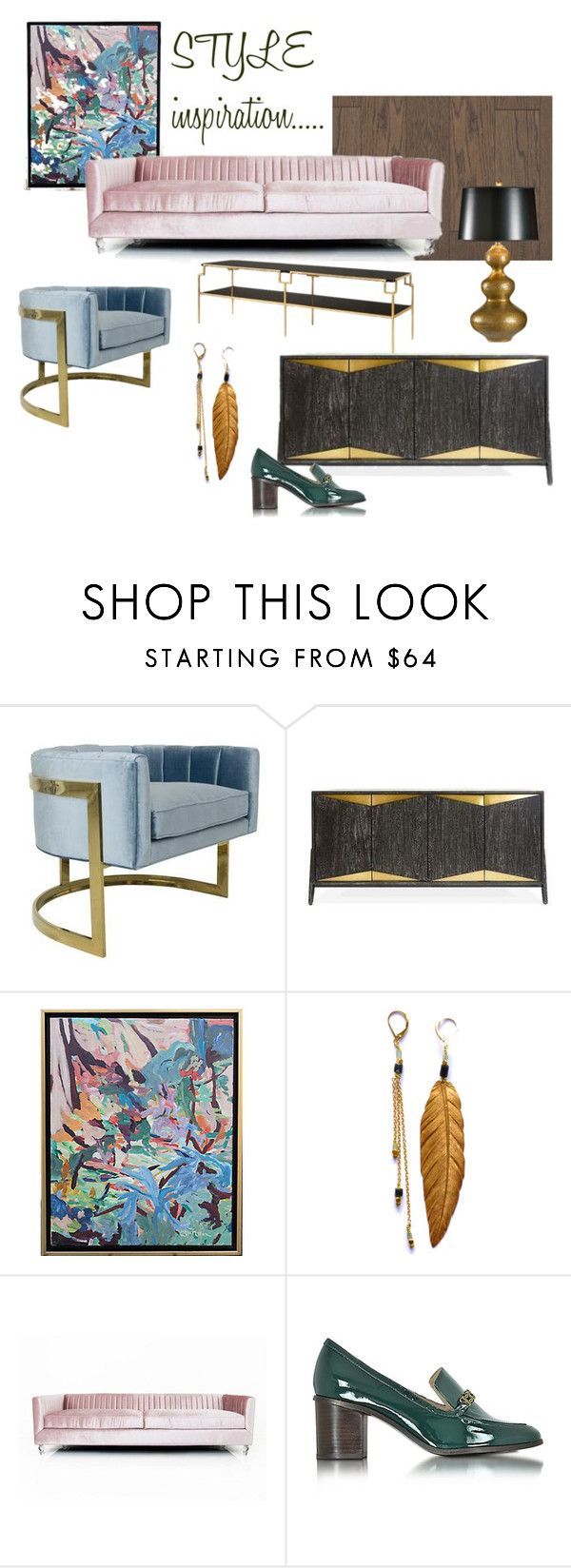Style Inspiration by evelyndesigner on Polyvore featuring interior, interiors, interior design, home, home decor, interior decorating, Tory Burch, Jonathan Adler and Wildwood