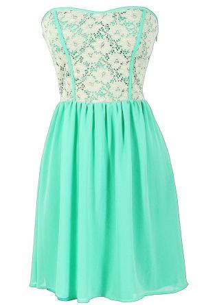 df23a0863dee Vestido precioso con encaje , verde agua y blanco divino!!! | 15 ...