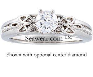 Celtic Knot Braid Bridal Ring Set Ces763 Wedding Engagement